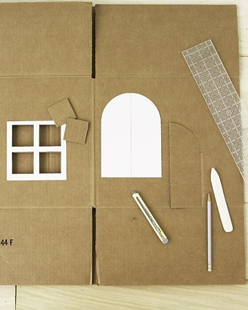 Домик с картонной коробки своими руками