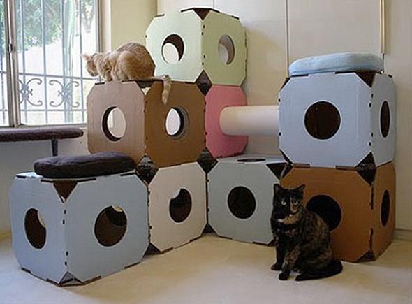 Игровой комплекс для кошки фото своими руками