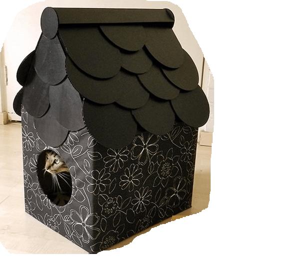 кошкин дом из коробки